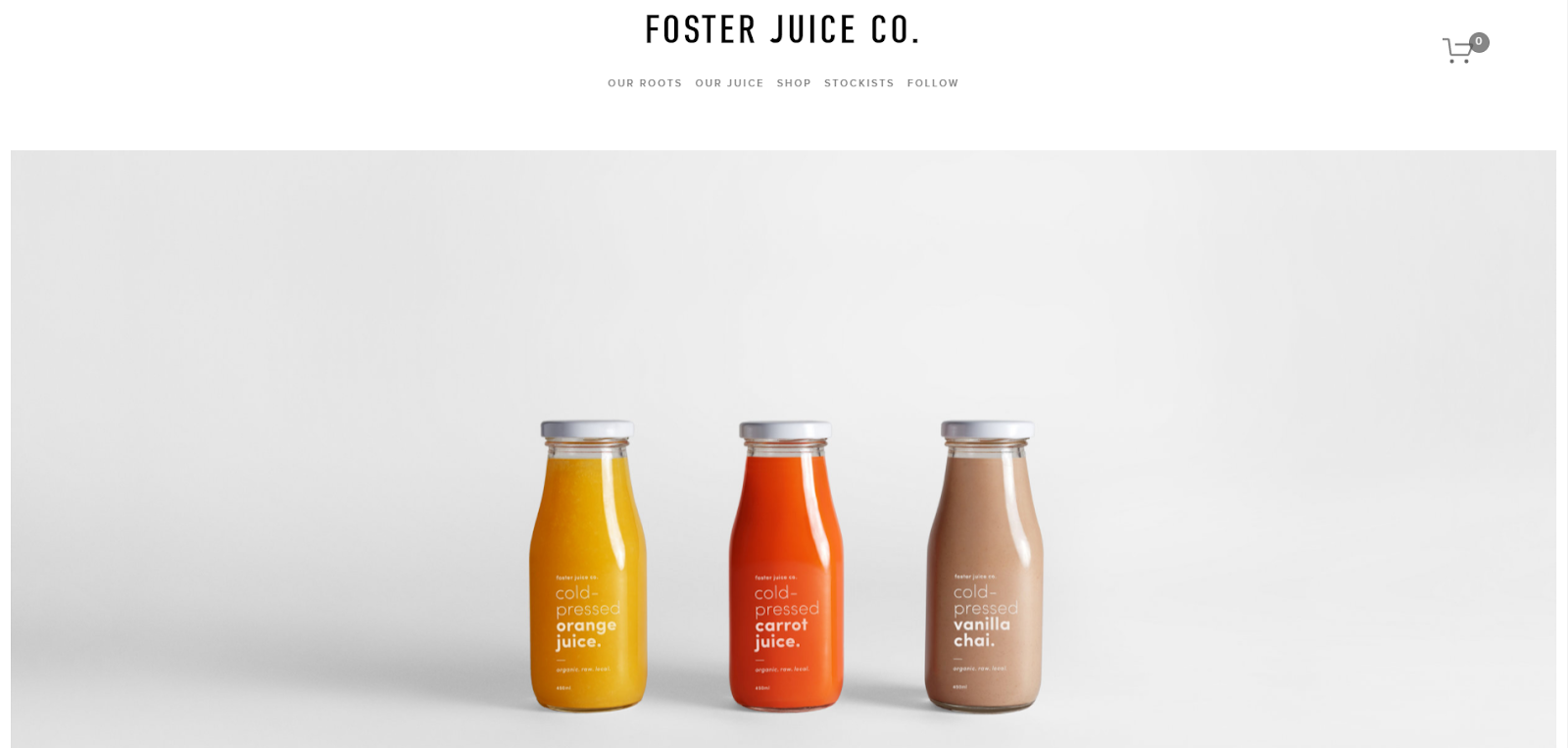 Squarespace ecommerce website examples with a minimalist design