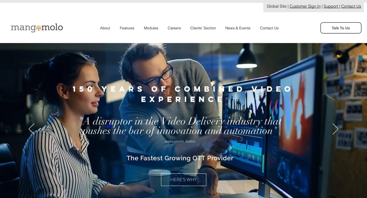 Wix Website Examples: Mangomolo