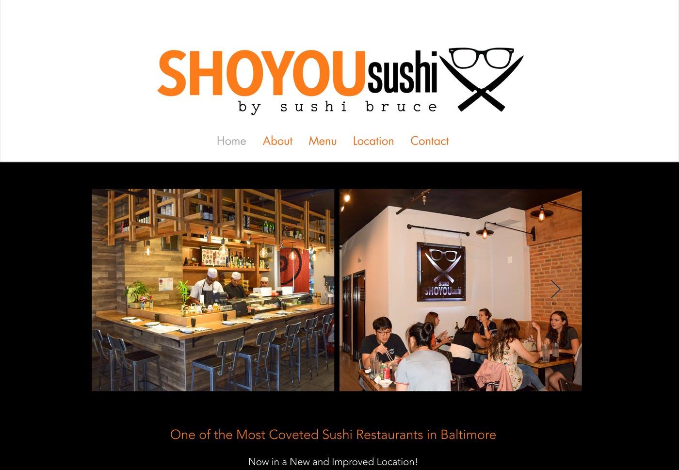 Wix Website Examples: Shoyou Sushi
