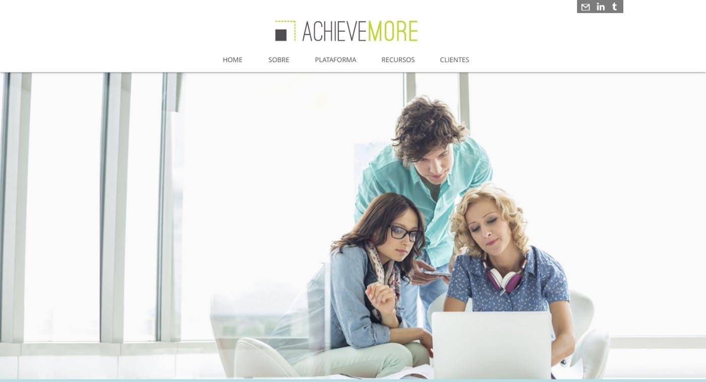 Wix Website Examples: AchieveMore