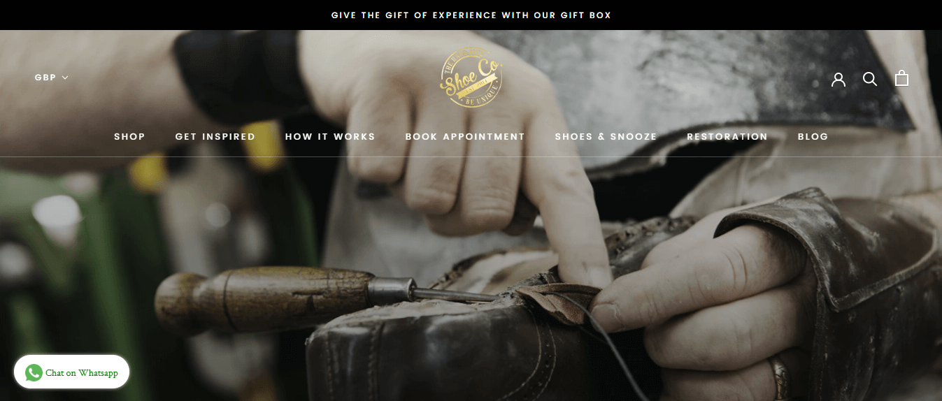 Wix Website Examples: Hand Dyed Shoe Company