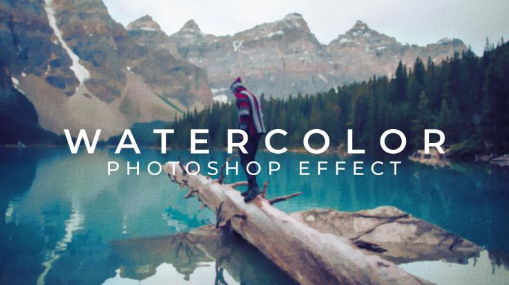 Realistic Watercolor Effect Photoshop Template