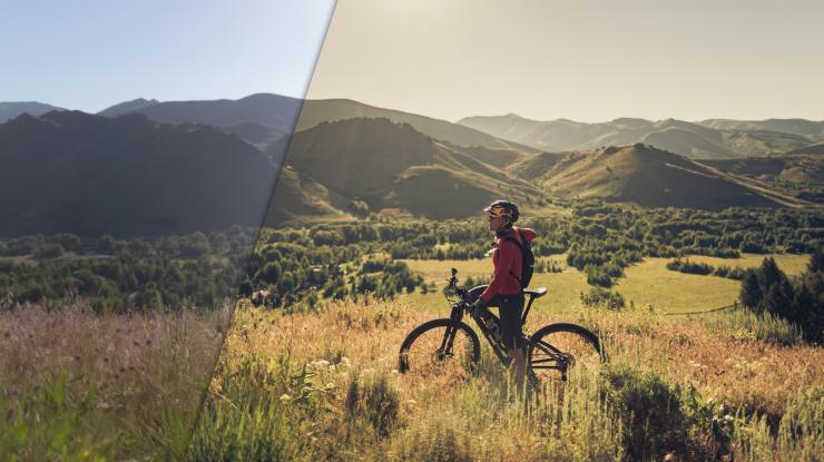 Mountain Biking Lifestyle Photo Lightroom Editing Workflow