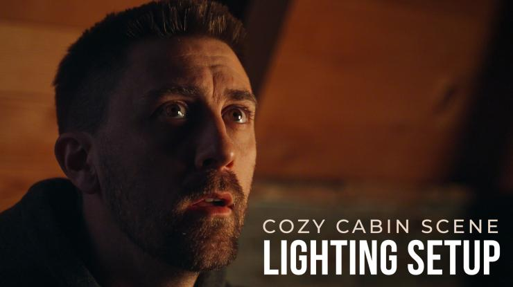 Cozy Cabin Scene Lighting Setup (Litepanels Gemini 1x1 & Astra 6X)