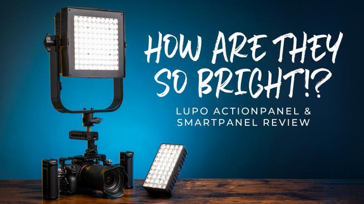 INSANELY Bright Lupo Actionpanel & Smartpanel LED Light Review (+4 Easy Lighting Setups)