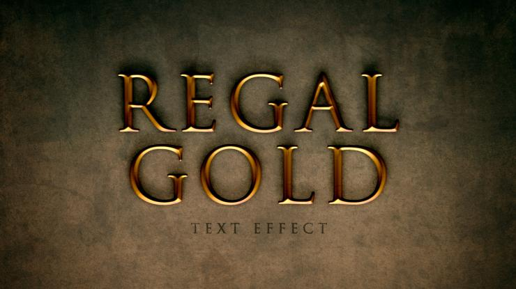 Regal Gold Text Effect in Photoshop Using Layer Styles