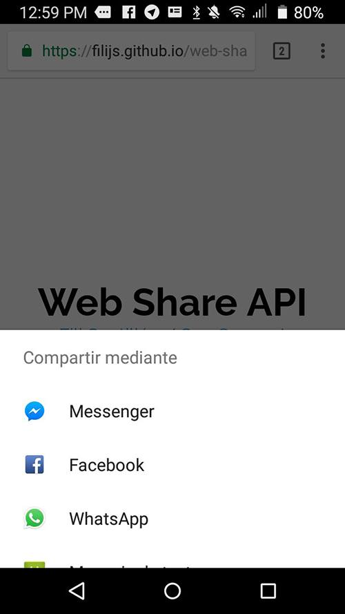 Web Share API