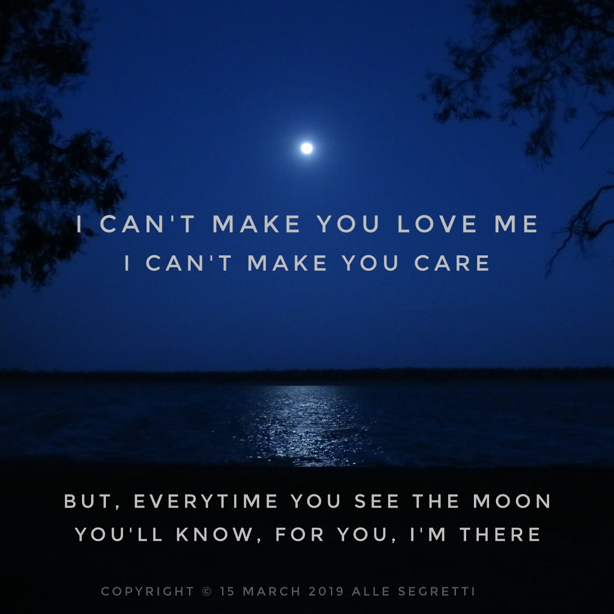 I can't make you lov-Alle