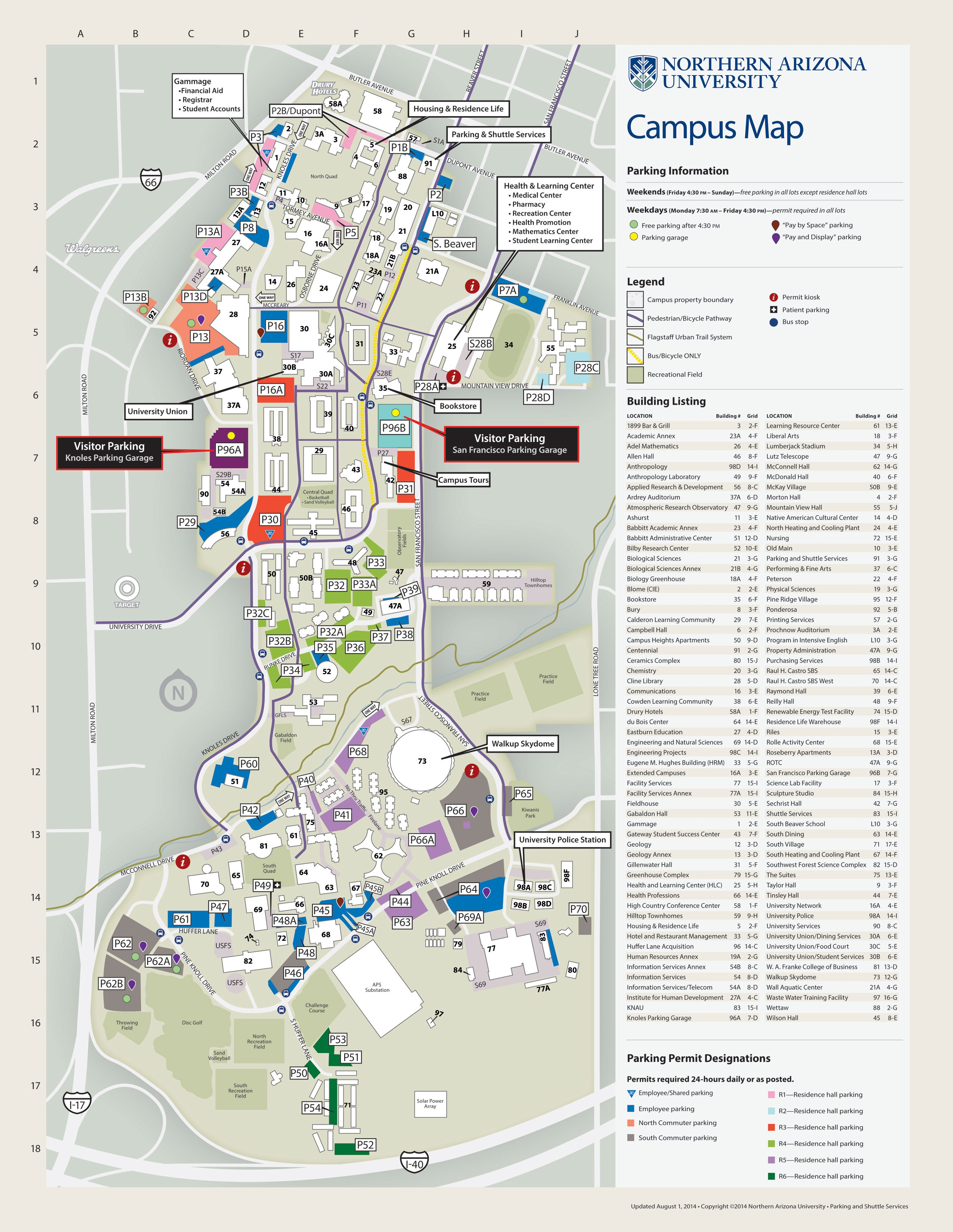 photograph about University of Arizona Campus Map Printable named Flagstaff, Arizona Maps - Come across Flagstaff