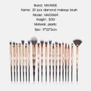 20Pcs Wire Color Make up Brush