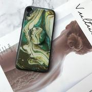 Luxury Marble Pattern Silicone iPhone with Phone Holder