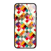 Colorful Life Color Patch Latticed Print Phone Case For All iPhone