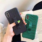 Solid Color Leather Phone Case with Ring Bracket for All iPhone