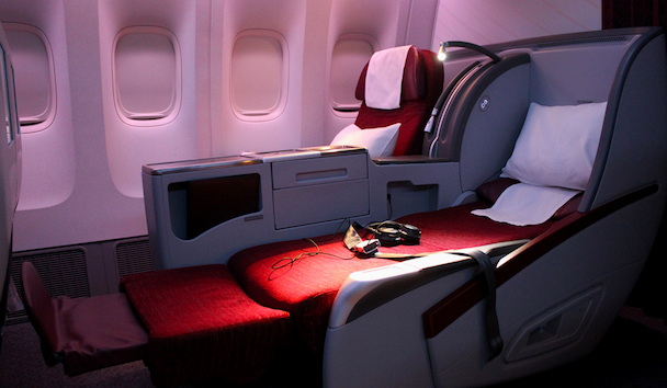 Qatar Airways Business Class Seat Boeing 777