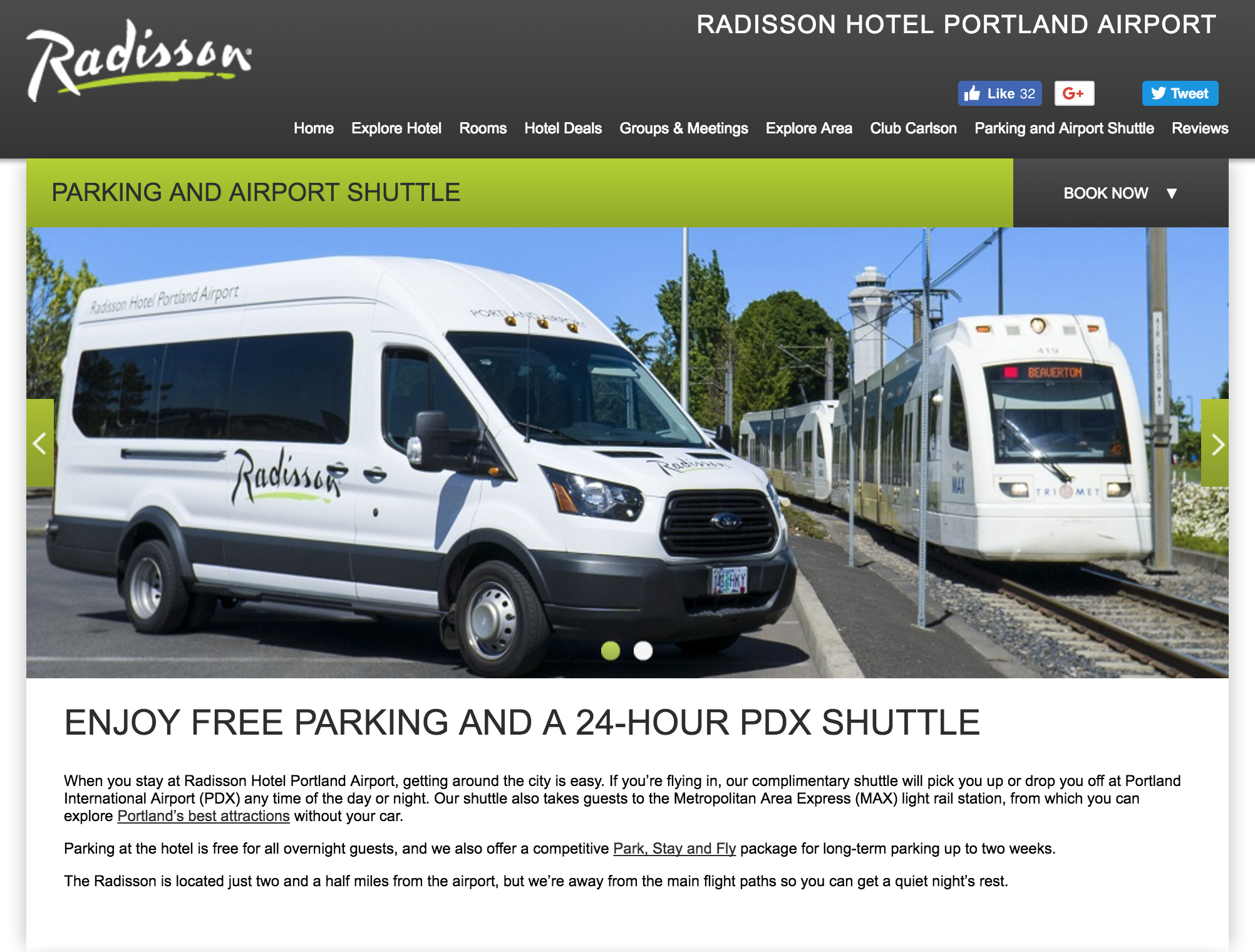 Free hotel shuttle services