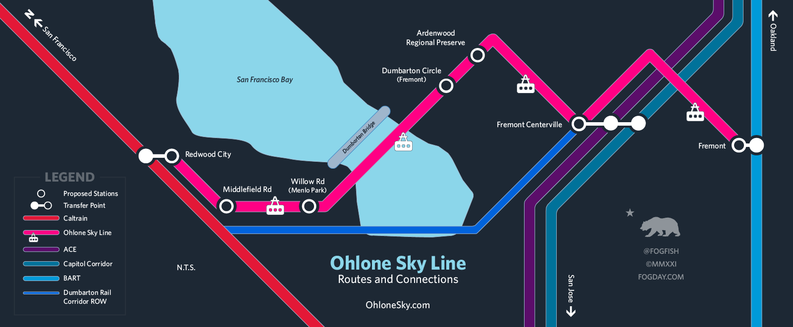 Ohlone Sky Routes