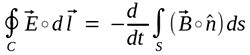 Faraday's law of induction - integral form