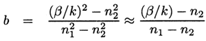 relative modal propagation coefficient