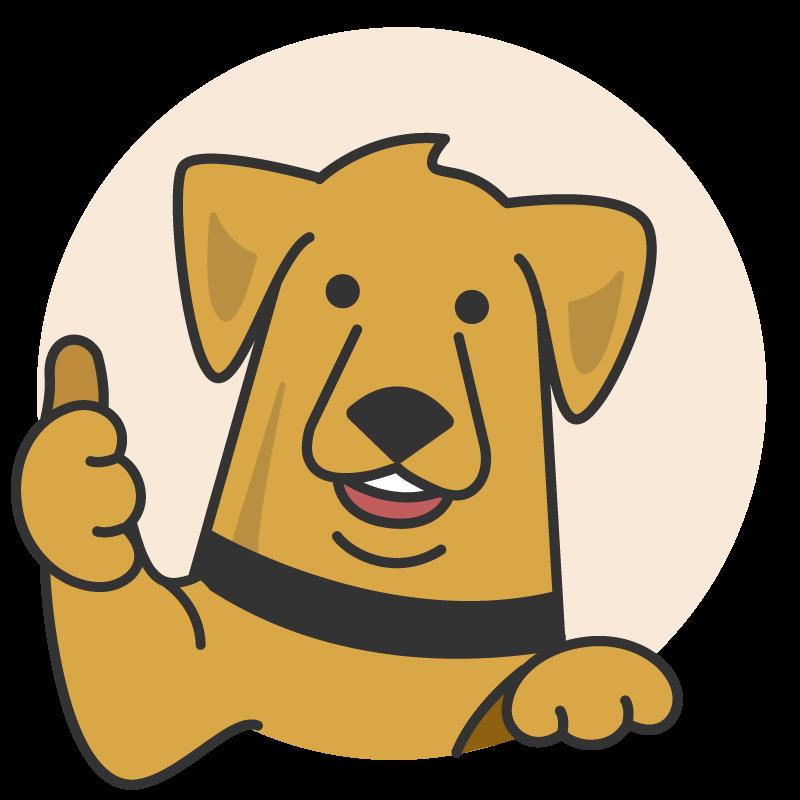 Fuzzy Guarantee Dog Thumbs Up