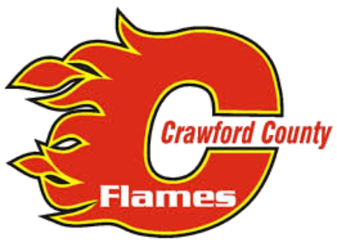 Crawford County Flames mascot