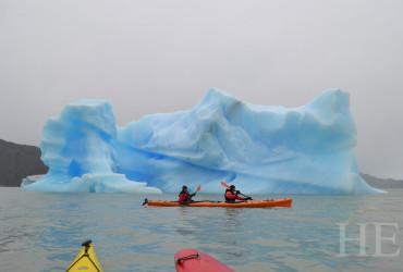 Kayaking in the pristine water of Grey Lake
