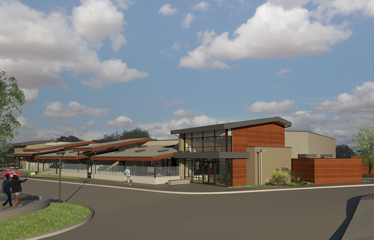 And architect's rendering of GDB's new Puppy Center.