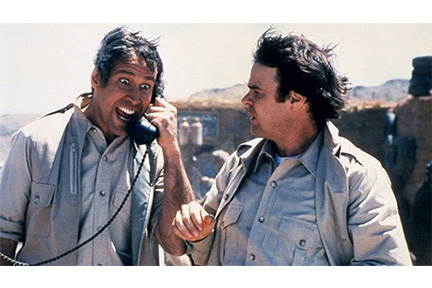 Chevy Chase and Dan Aykroyd in the desert