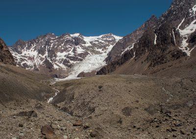 Marcos Cole Glaciar Juncal Norte