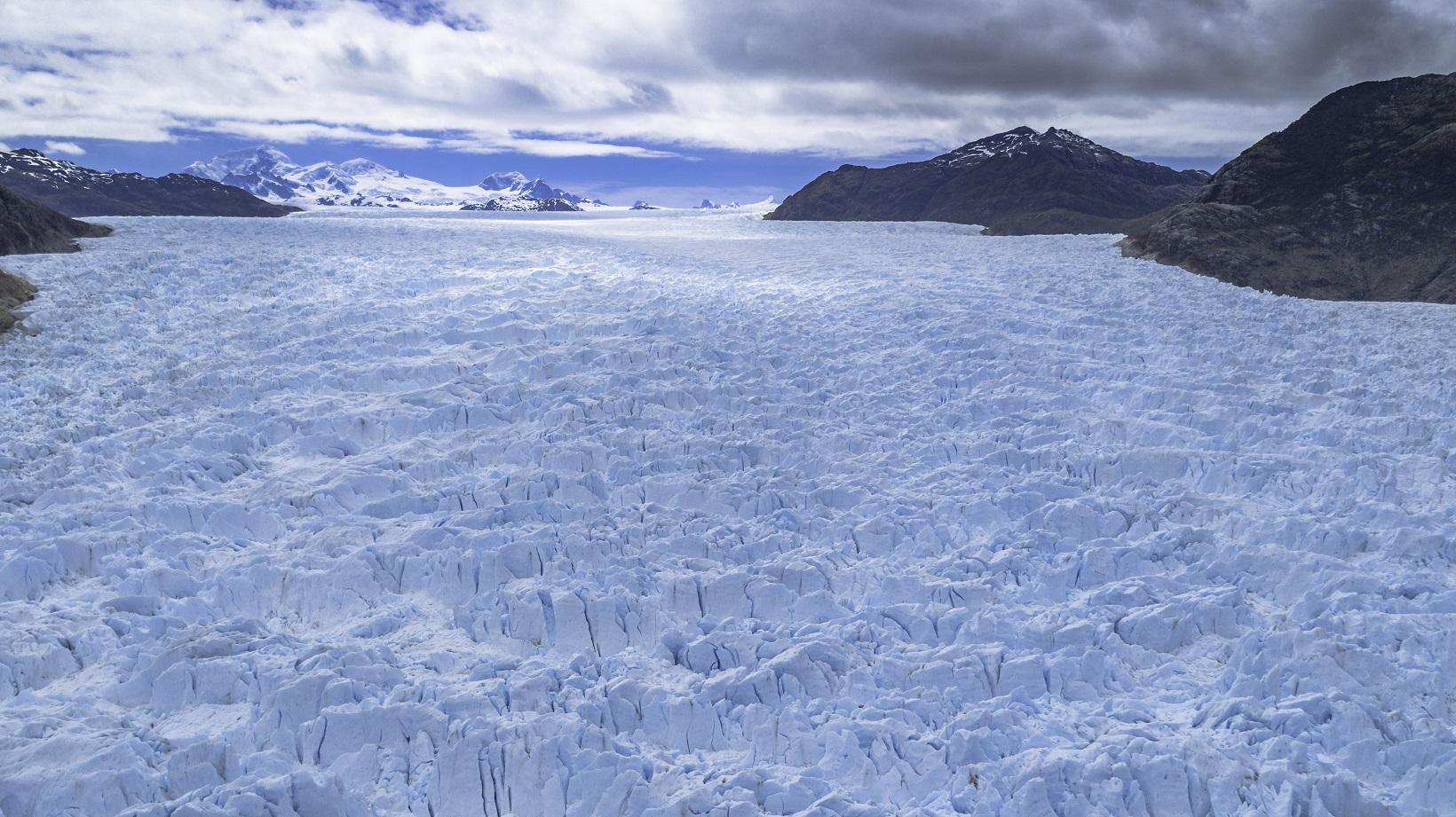 Vista aérea Glaciar San Rafael