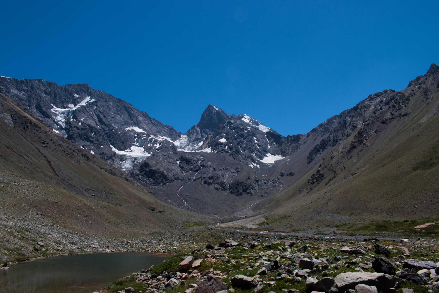 En Los Andes, la concentración más alta de glaciares se encuentra en la frontera entre Chile y Argentina