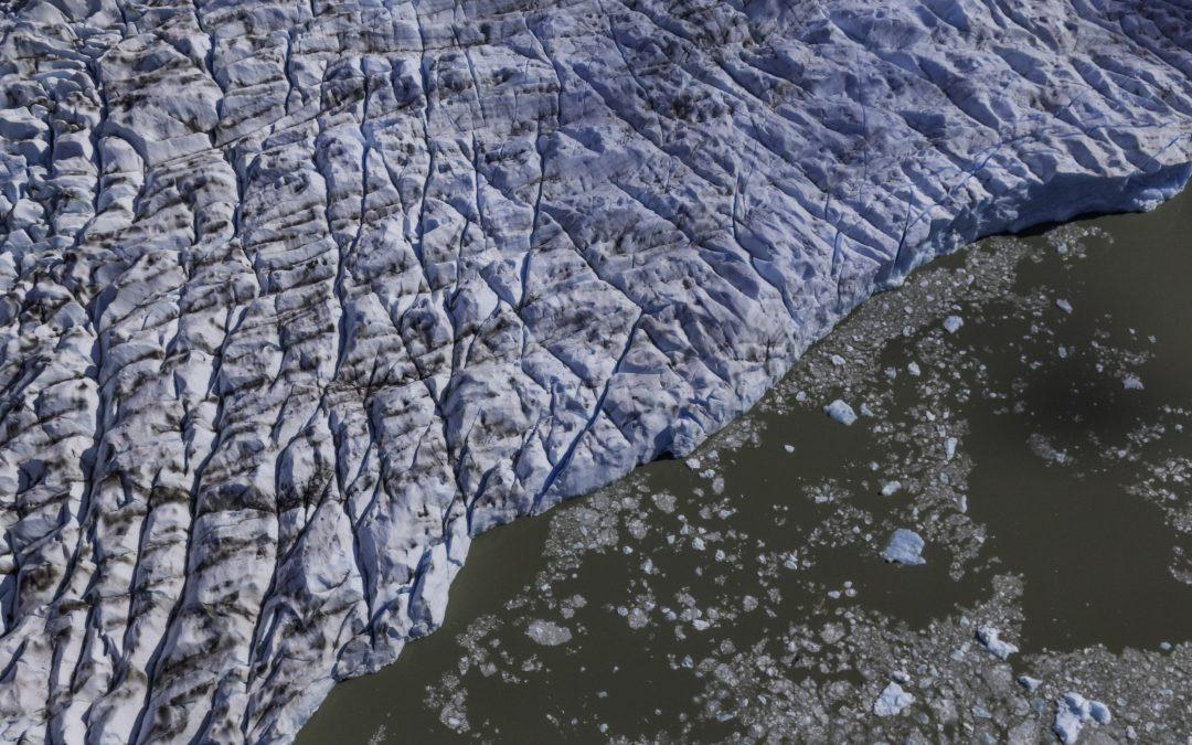 Vista aérea Glaciar Grey