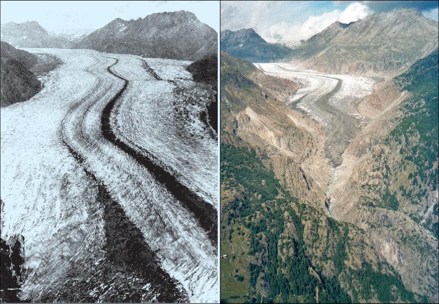 Glaciares de los Alpes Europeos proyectados a la extinción para el 2100