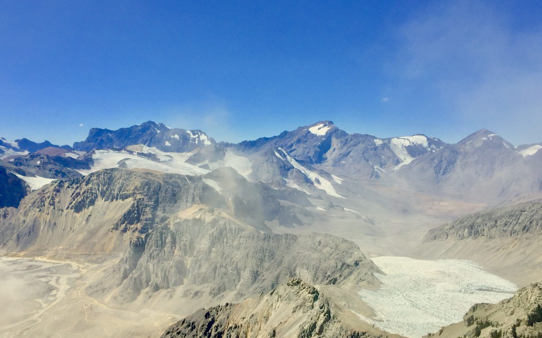 Clouds of particulate matter could threaten the Olivares Glaciers