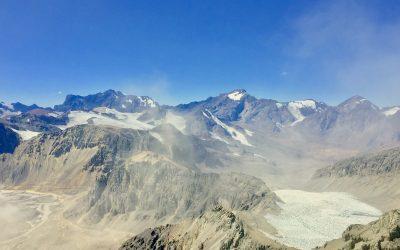 Nubes de material particulado podrían amenazar a los Glaciares Olivares