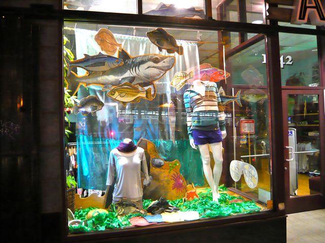 Post image for Creating a tide pool & ocean window display.