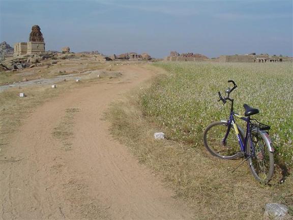 Bicycle-at-Hampi