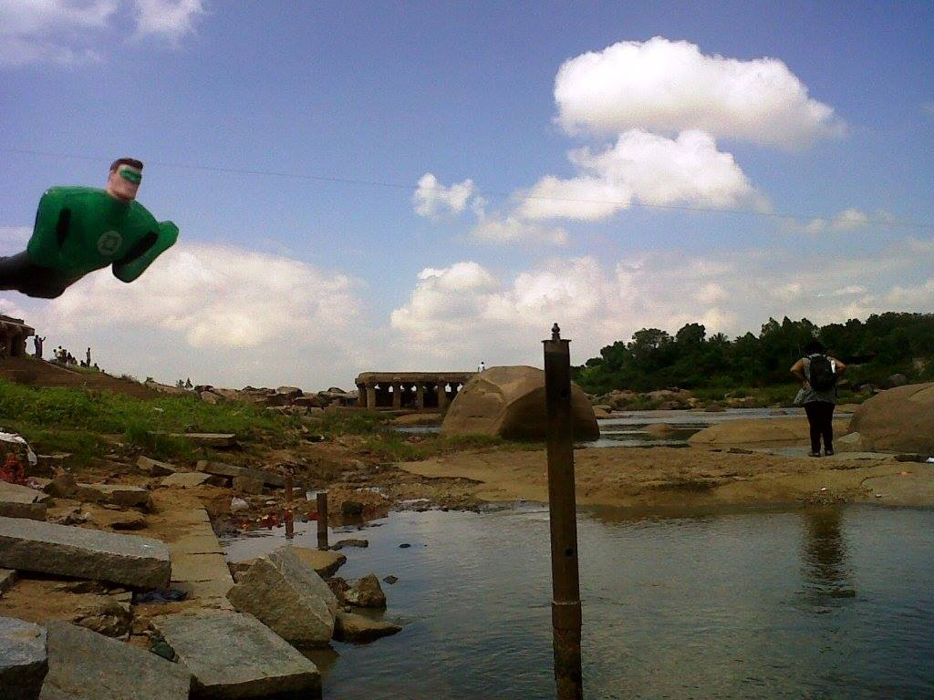 Green lantern hampi river