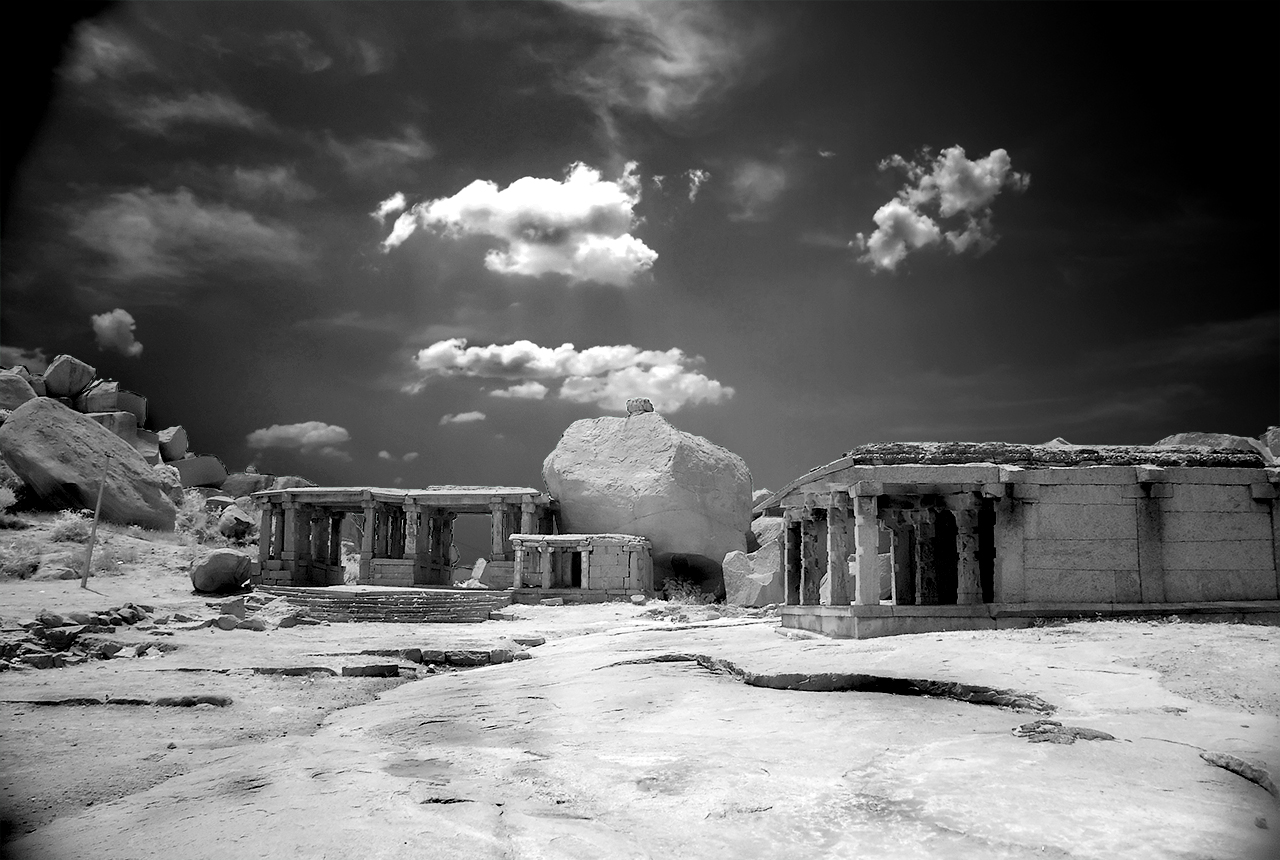 A different perspective of Hampi - infrared view Picture Courtesy: Saad Akhtar