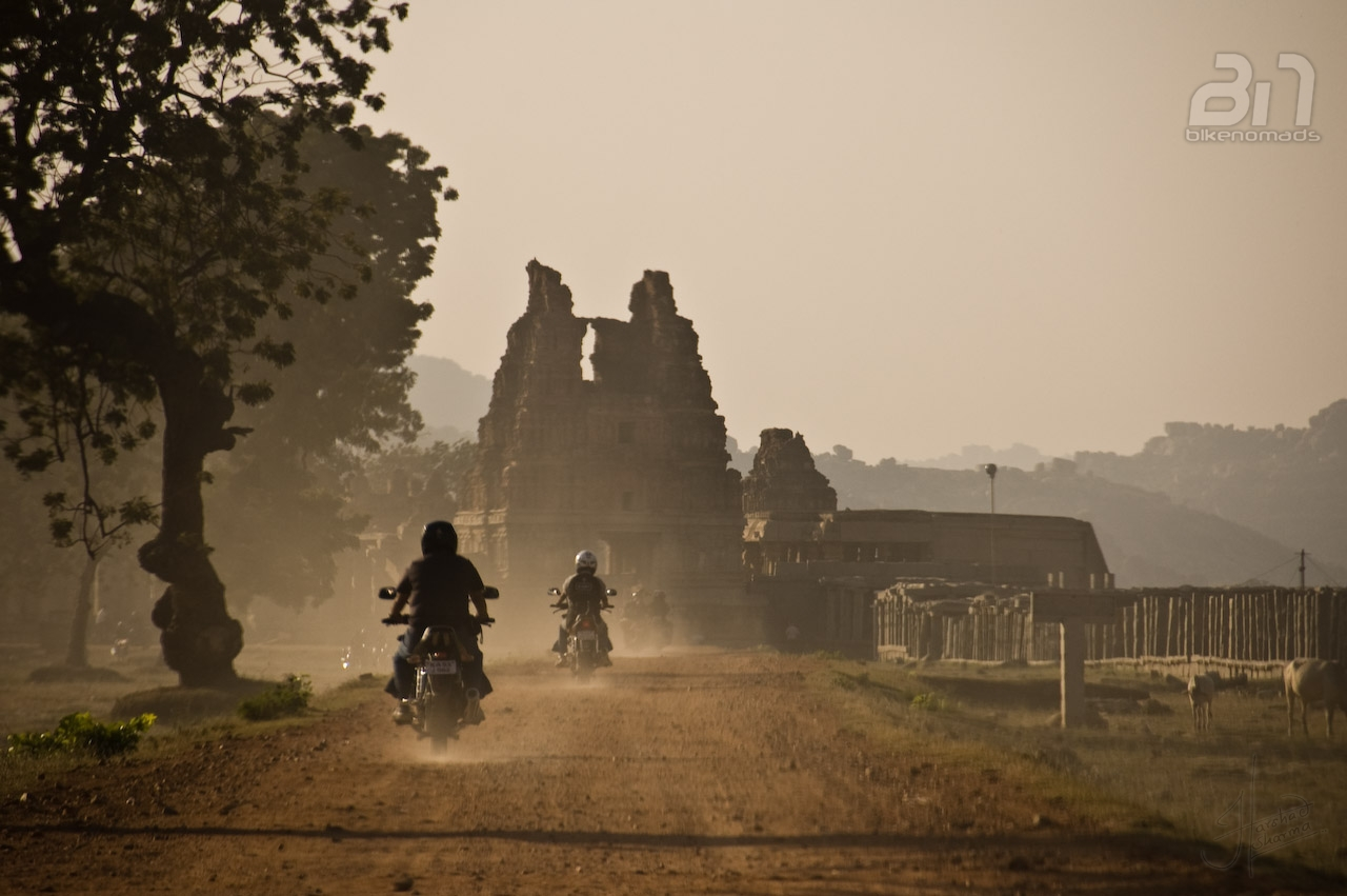 Bikers in Hampi - probably the best way to explore the ruins Picture Courtesy: Harshad Sharma
