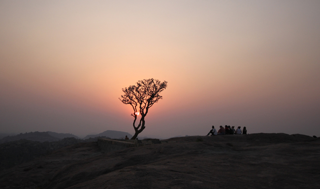 Sunset at Anjaneya Hill Hampi