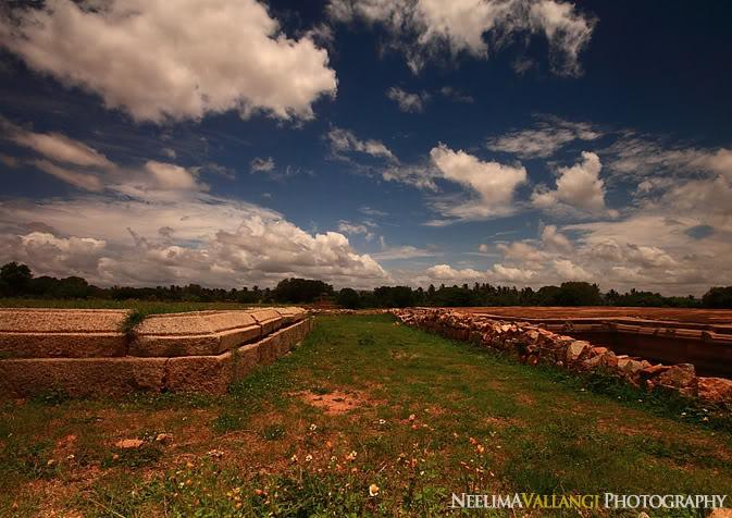 Landscape of some ruins Hampi