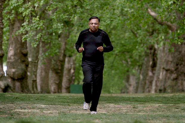 The TCS chief lives a healthy lifestyle - Picture Courtesy: Times UK