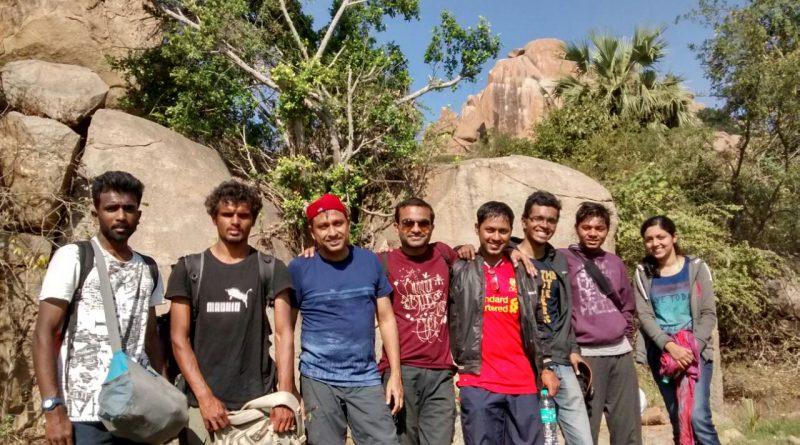 Bouldering participants