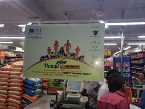 Posters at supermarkets in Hospet