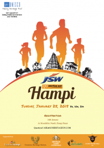 JSW Go Heritage Run Poster