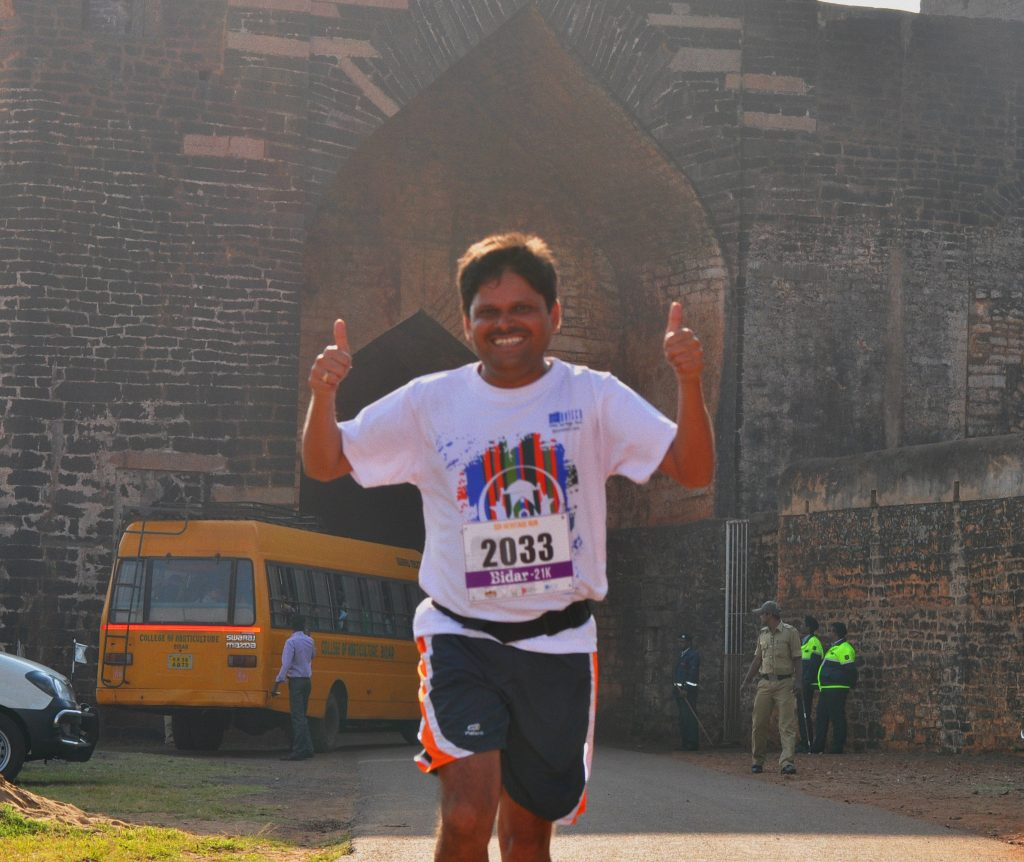 An ecstatic finisher