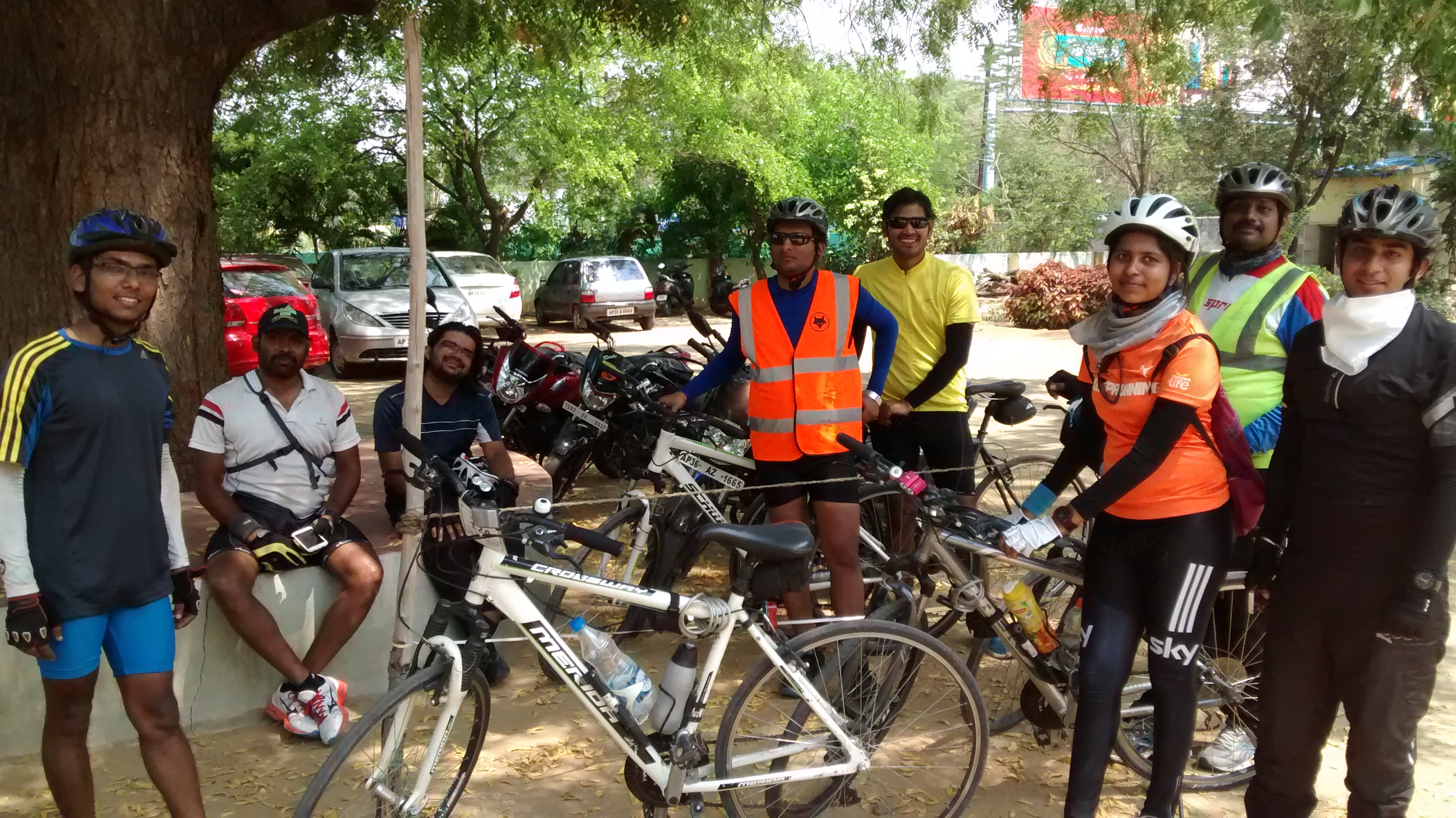 Cyclists from Hyderabad