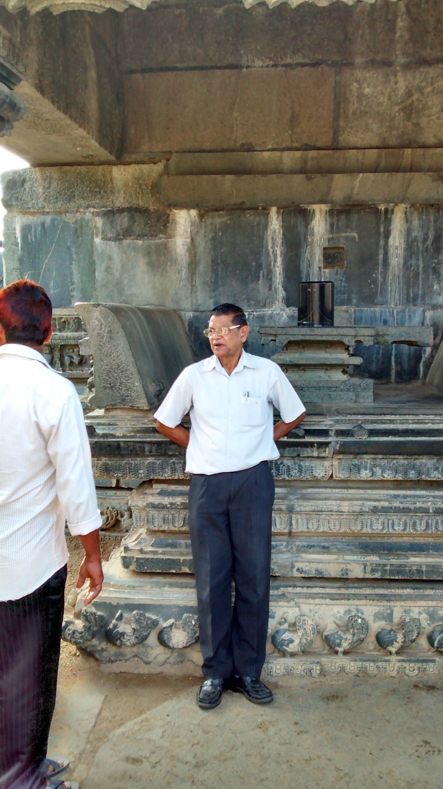 Prof. Pandu Ranga Rao at Fort Warangal