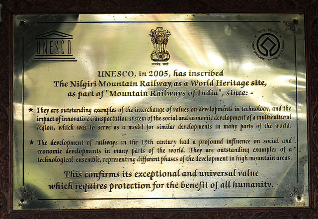 The UNESCO Accredition. Picture Courtesy: B Balaji