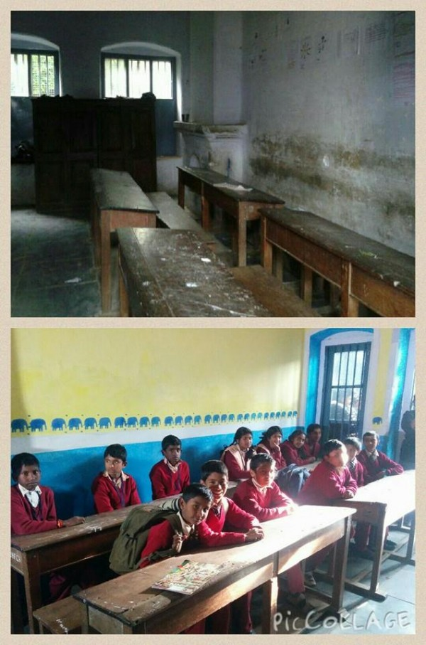 Cleaning the classrooms